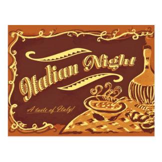 Postal italiana de la noche