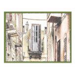 Postal italiana del balcón