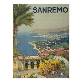 Postal italiana del viaje de San Remo del vintage