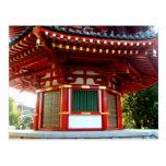 Postal japonesa de la pagoda del templo