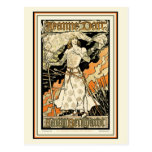 Postal:  Jeanne D'Arc, Sarah Bernhardt Tarjeta Postal