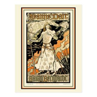 Postal:  Jeanne D'Arc, Sarah Bernhardt