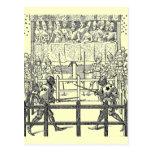 Postal Jousting de los caballeros medievales