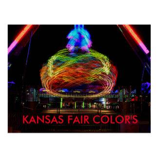POSTAL justa 2014 de los colores de Kansas