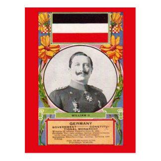 Postal Kaiser Wilhelm Ii   del vintage de la