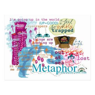 Postal KS2 y KS3 de la metáfora