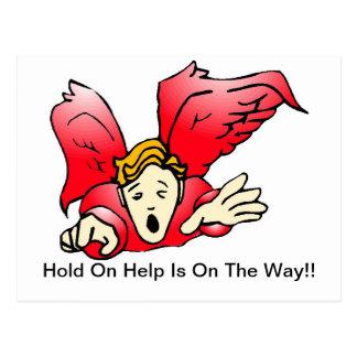 Postal - la ayuda del ángel está prendido ellos ma