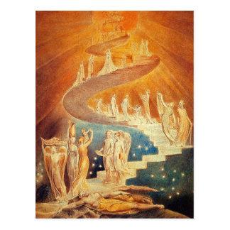 Postal: La escalera de Jacob - Guillermo Blake