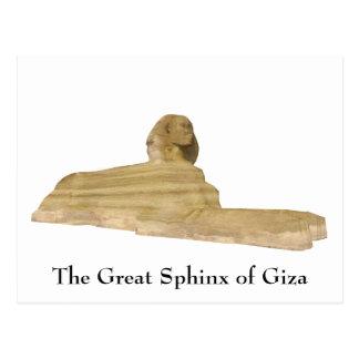 Postal: La gran esfinge de Giza Postal