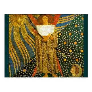 Postal: La pintura de Rossetti del amor