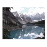 Postal, lago moraine. Banff Alberta