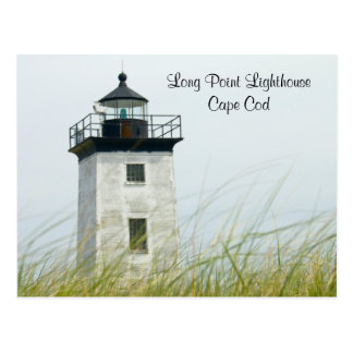 Postal larga de Provincetown Cape Cod de la luz de