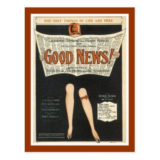 Postal - las mejores cosas de las buenas noticias