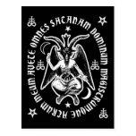"""""""Postal latina de Satan"""" Baphomet del saludo [negr"""