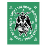 """""""Postal latina de Satan"""" Baphomet del saludo [verd"""