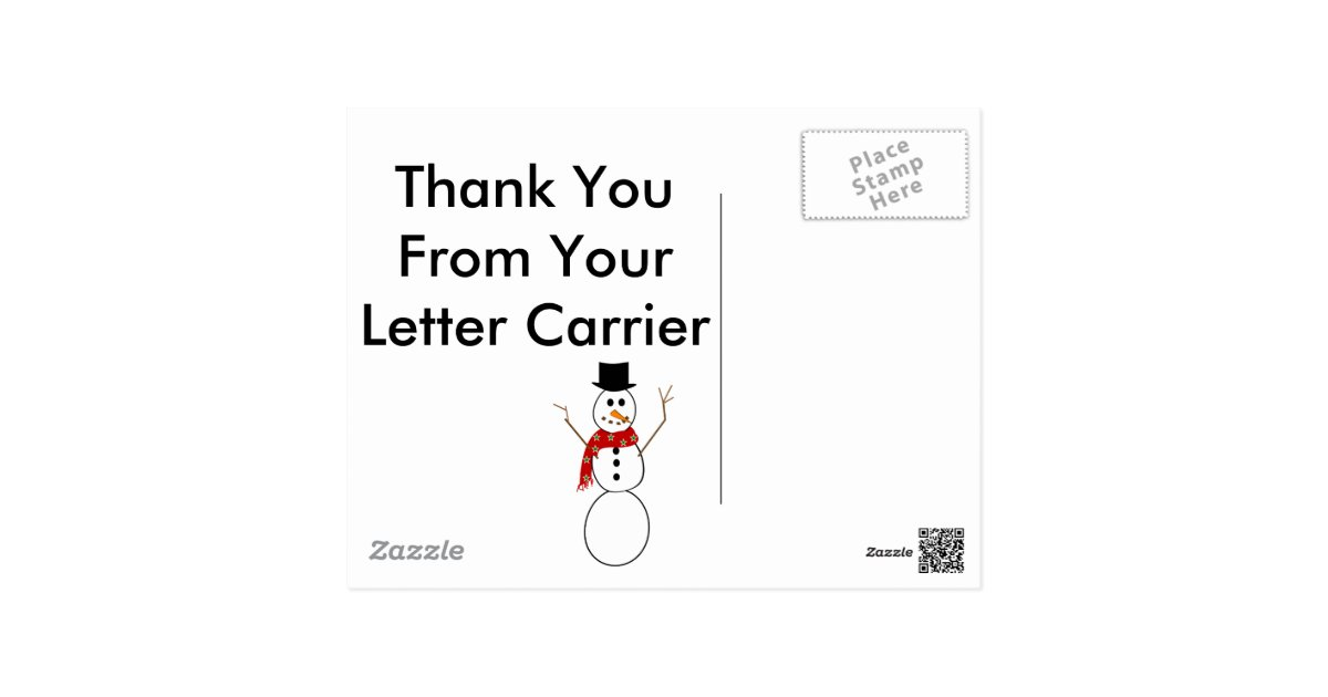 postal letter carrier thank you cards zazzle With letter carrier thank you cards for customers