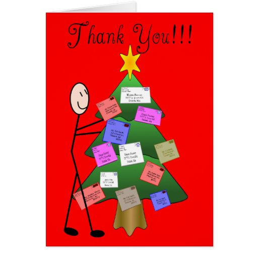 Letter Carrier Holiday Thank You Card