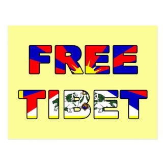 Postal libre de Tíbet