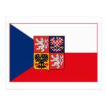 Postal (ligera) del COA de la bandera w de Checosl