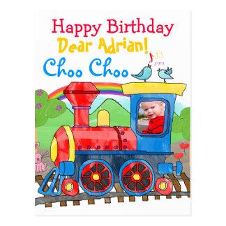 Postal linda de la foto del feliz cumpleaños del