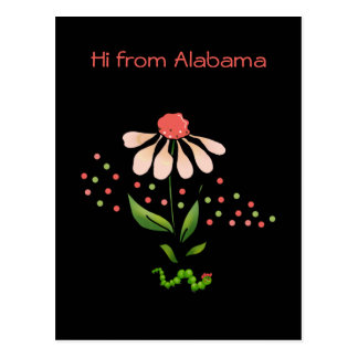 Postal linda de la margarita de Alabama