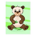 Postal linda de la panda de Kawaii
