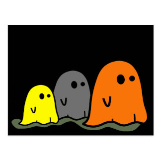Postal linda de los fantasmas de Halloween