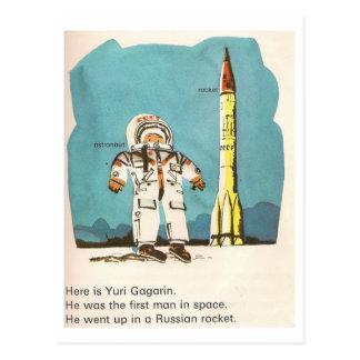 Postal linda de Yuri Gagarin