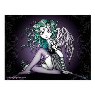 Postal linda del ángel del tatuaje de Malory peque