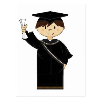 Postal linda del niño de la graduación