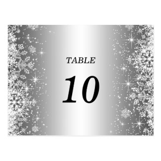 Postal linda del número de la tabla del boda del