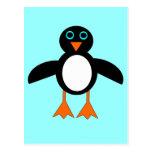 Postal linda del pingüino