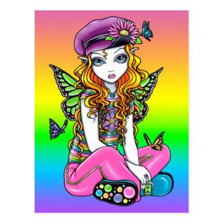 "Postal linda ""soleada"" de la flor de mariposa del"