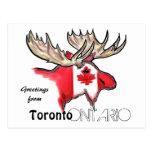 Postal local de la bandera de Toronto Ontario Cana