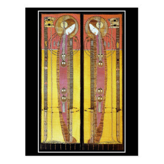 Postal: Los paneles bordados de Margaret Macdonald Postal