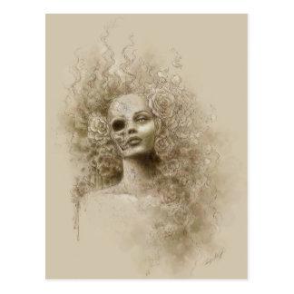 Postal macabra del arte de la fantasía del olvido