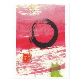 Postal magenta del círculo del zen