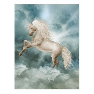 Postal mágica de la belleza del unicornio