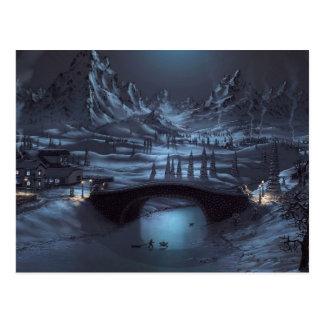 Postal mágica de las noches del invierno