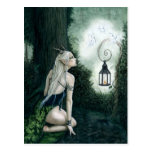 Postal mágica del duende del bosque