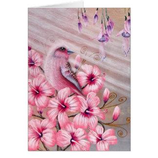 Postal mágica del pájaro del espejismo tarjeta de felicitación