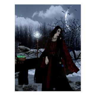 Postal mágica gitana de la fantasía de los chicas