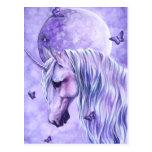Postal mágica iluminada por la luna