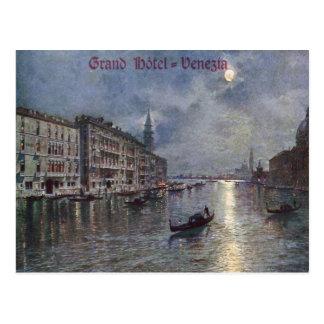 Postal magnífica del vintage de Venezia del hotel