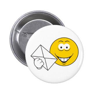 Postal Mailman Smiley Face 2 Inch Round Button