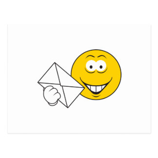 Postal Mailman Smiley Face Postcard