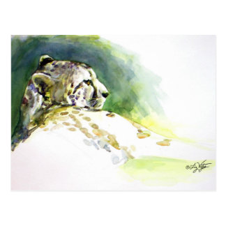 Postal majestuosa del guepardo