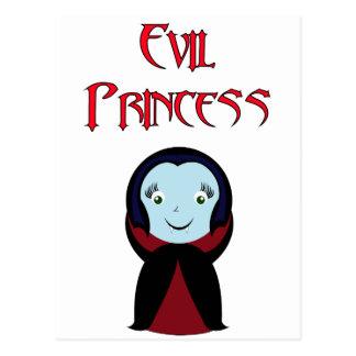 Postal malvada de la princesa