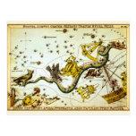 Postal: Mapa de estrella del vintage - atlas de la