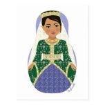Postal marroquí de Matryoshka de la novia